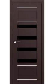 Двери Профиль Дорс 32U Темно-коричневый Стекло Черный Триплекс