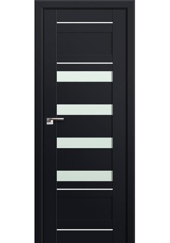Двери Профиль Дорс 32U Черный матовый Стекло Мателюкс