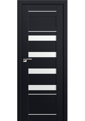 Двери Профиль Дорс 32U Черный матовый Стекло Белый Триплекс