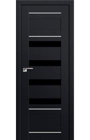 Двери Профиль Дорс 32U Черный матовый Стекло Черный Триплекс