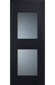 Двери Профиль Дорс 51U Черный матовый Стекло Графит