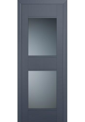 Двери Профиль Дорс 51U Антрацит Стекло Графит