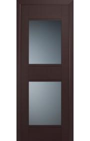 Двери Профиль Дорс 51U Темно-коричневый Стекло Графит