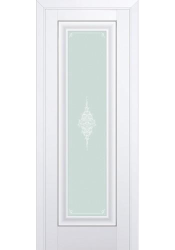 Двери Профиль Дорс 24U Аляска Стекло Кристалл Матовый Серебро