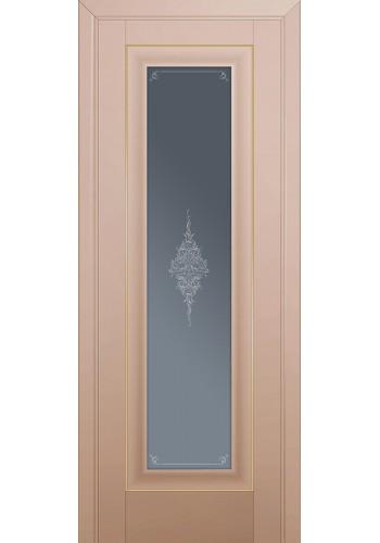 Двери Профиль Дорс 24U Капучино Сатинат Стекло Кристалл Графит Золото
