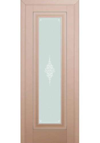Двери Профиль Дорс 24U Капучино Сатинат Стекло Кристалл Матовый Серебро