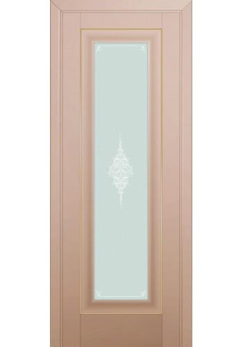 Двери Профиль Дорс 24U Капучино Сатинат Стекло Кристалл Матовый Золото