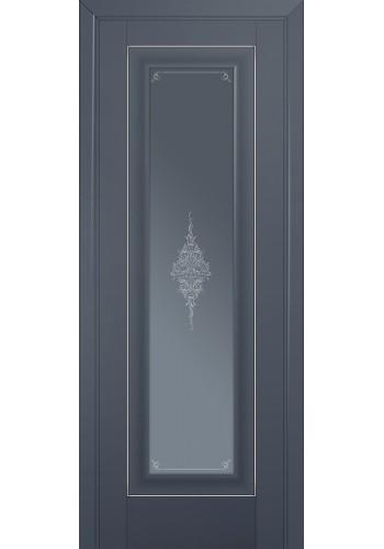 Двери Профиль Дорс 24U Антрацит Стекло Кристалл Графит Серебро
