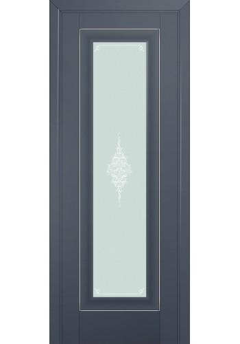 Двери Профиль Дорс 24U Антрацит Стекло Кристалл Матовый Серебро