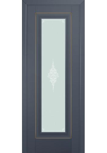 Двери Профиль Дорс 24U Антрацит Стекло Кристалл Матовый Золото