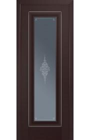 Двери Профиль Дорс 24U Темно-коричневый Стекло Кристалл Графит Серебро