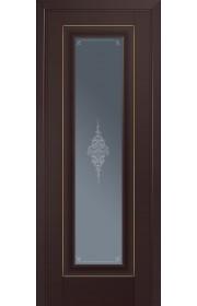 Двери Профиль Дорс 24U Темно-коричневый Стекло Кристалл Графит Золото