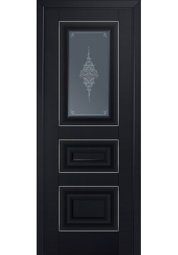 Двери Профиль Дорс 26U Черный матовый Стекло Кристалл Графит Серебро