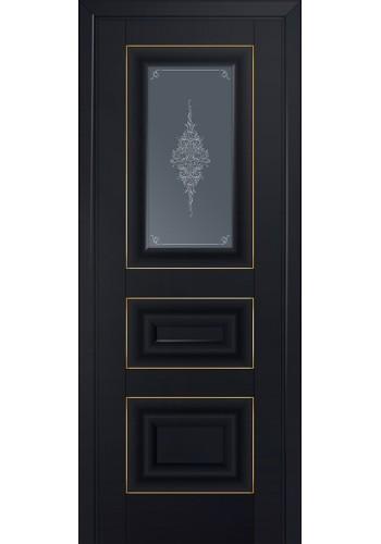 Двери Профиль Дорс 26U Черный матовый Стекло Кристалл Графит Золото