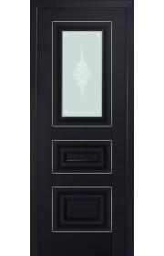 Двери Профиль Дорс 26U Черный матовый Стекло Кристалл Матовый Серебро
