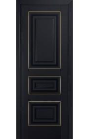 Двери Профиль Дорс 25U Черный матовый ДГ Золото