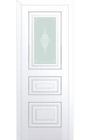 Двери Профиль Дорс 26U Аляска Стекло Кристалл Матовый Серебро
