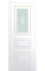 Двери Профиль Дорс 26U Аляска Стекло Кристалл Матовый Золото