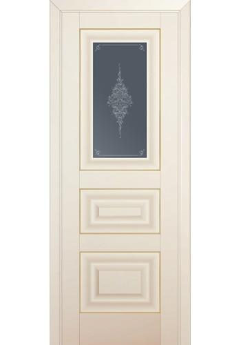 Двери Профиль Дорс 26U Магнолия Сатинат Стекло Кристалл Графит Золото