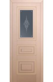 Двери Профиль Дорс 26U Капучино Сатинат Стекло Кристалл Графит Золото