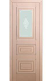 Двери Профиль Дорс 26U Капучино Сатинат Стекло Кристалл Матовый Серебро