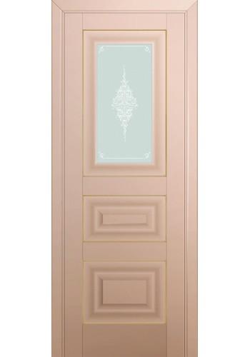 Двери Профиль Дорс 26U Капучино Сатинат Стекло Кристалл Матовый Золото