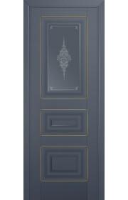 Двери Профиль Дорс 26U Антрацит Стекло Кристалл Графит Золото