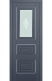 Двери Профиль Дорс 26U Антрацит Стекло Кристалл Матовый Серебро
