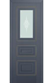 Двери Профиль Дорс 26U Антрацит Стекло Кристалл Матовый Золото