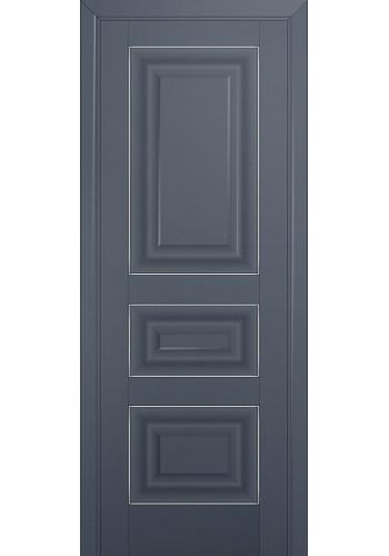 Двери Профиль Дорс 25U Антрацит ДГ Серебро