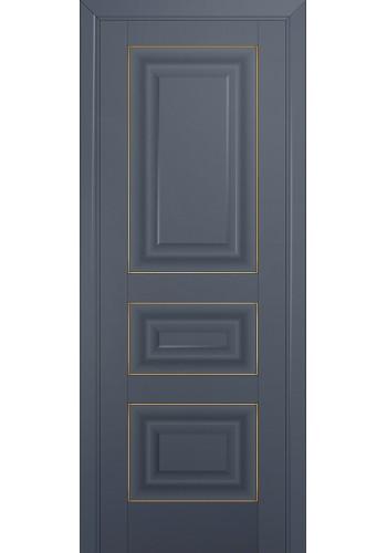 Двери Профиль Дорс 25U Антрацит ДГ Золото