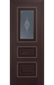 Двери Профиль Дорс 26U Темно-коричневый Стекло Кристалл Графит Серебро