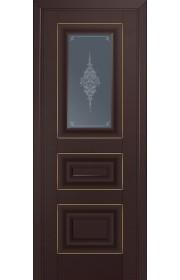 Двери Профиль Дорс 26U Темно-коричневый Стекло Кристалл Графит Золото