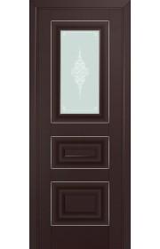 Двери Профиль Дорс 26U Темно-коричневый Стекло Кристалл Матовый Серебро