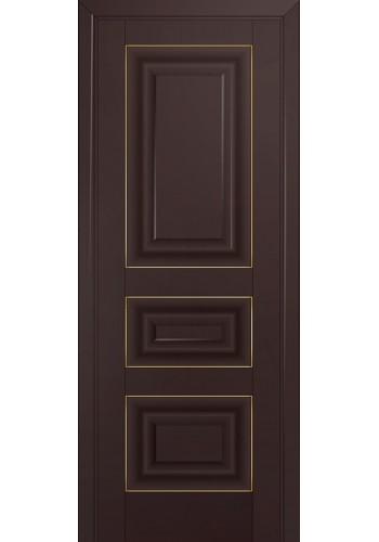 Двери Профиль Дорс 25U Темно-коричневый ДГ Золото