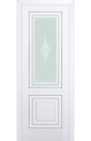 Двери Профиль Дорс 28U Аляска Стекло Кристалл Матовый Серебро