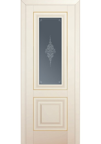 Двери Профиль Дорс 28U Магнолия Сатинат Стекло Кристалл Графит Золото