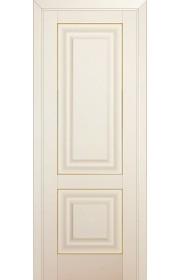Двери Профиль Дорс 27U Магнолия Сатинат ДГ Золото