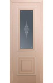 Двери Профиль Дорс 28U Капучино Сатинат Стекло Кристалл Графит Серебро