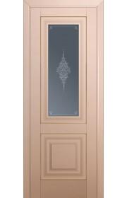 Двери Профиль Дорс 28U Капучино Сатинат Стекло Кристалл Графит Золото