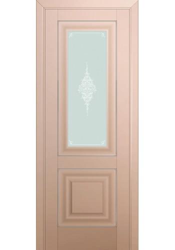 Двери Профиль Дорс 28U Капучино Сатинат Стекло Кристалл Матовый Серебро