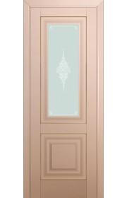 Двери Профиль Дорс 28U Капучино Сатинат Стекло Кристалл Матовый Золото