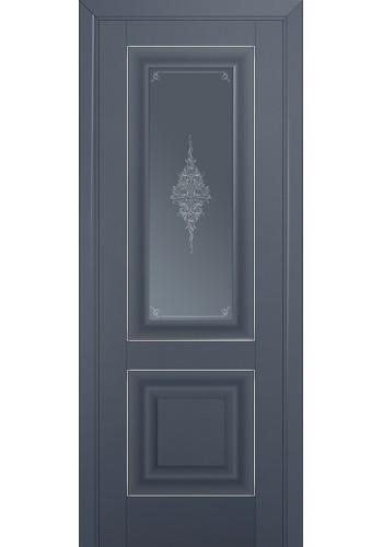 Двери Профиль Дорс 28U Антрацит Стекло Кристалл Графит Серебро