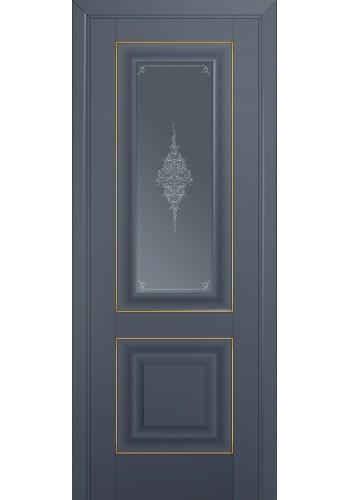 Двери Профиль Дорс 28U Антрацит Стекло Кристалл Графит Золото