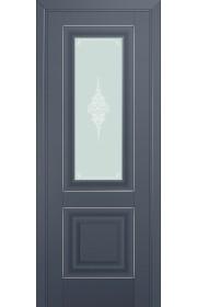 Двери Профиль Дорс 28U Антрацит Стекло Кристалл Матовый Серебро