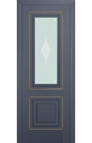 Двери Профиль Дорс 28U Антрацит Стекло Кристалл Матовый Золото