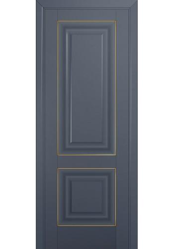 Двери Профиль Дорс 27U Антрацит ДГ Золото