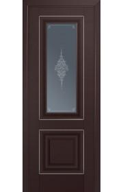 Двери Профиль Дорс 28U Темно-коричневый Стекло Кристалл Графит Серебро