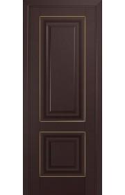 Двери Профиль Дорс 27U Темно-коричневый ДГ Золото