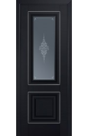 Двери Профиль Дорс 28U Черный матовый Стекло Кристалл Графит Серебро